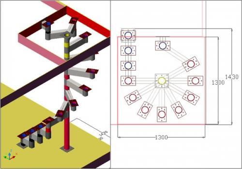 Проектирование модульных лестниц