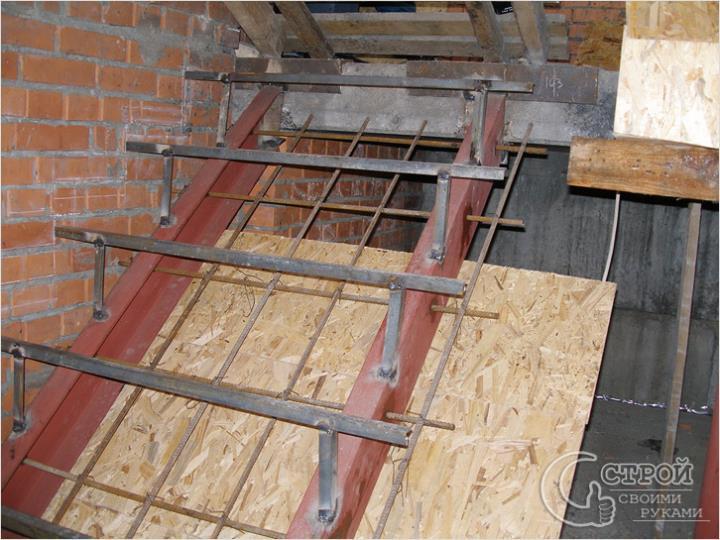 Каркас бетонной лестницы