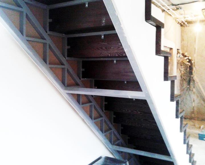отделка лестницы гипсокартоном