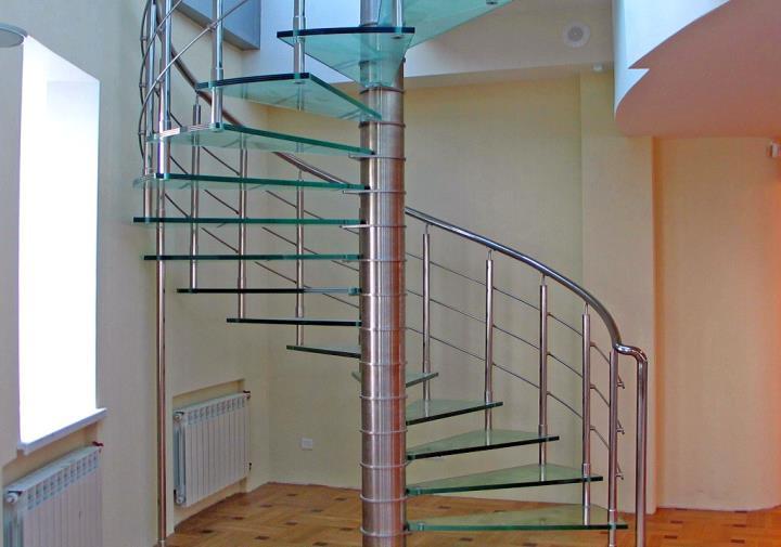 Смешанного типа винтовая лестница