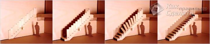 Лестница, которая прячется в стену