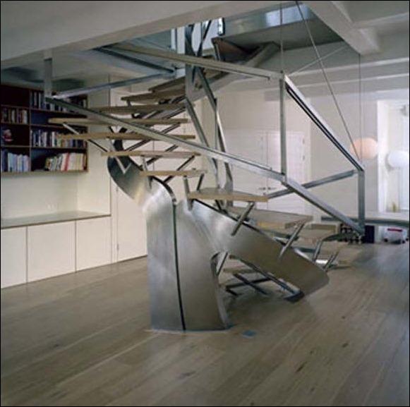 Конструкция металлической лестницы